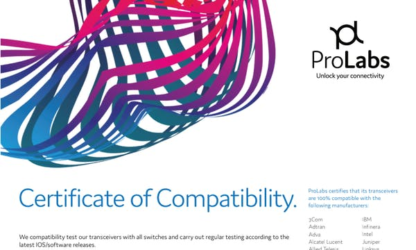 Certificate of Compatibility