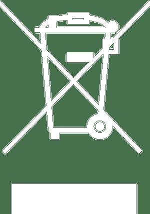 WEEE Symbol White